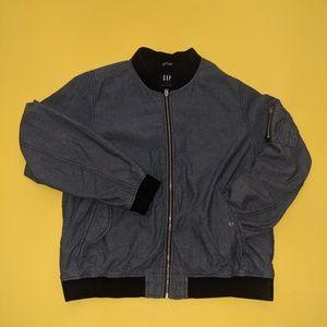 Gap Men's Chambray Bomber Denim Jacket XL